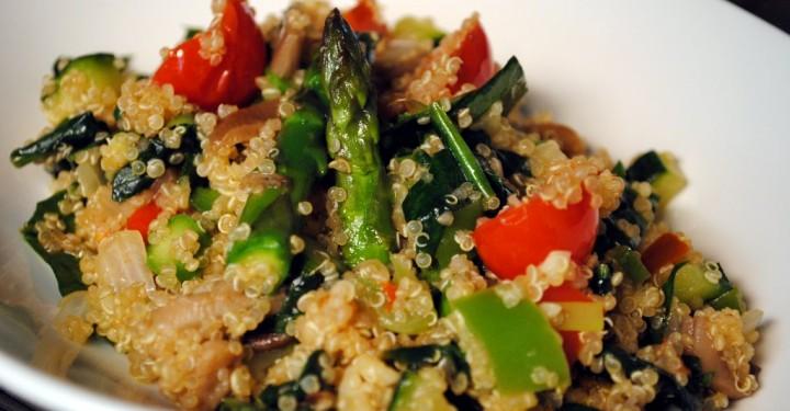 Quinoa con verduras y seit n dieta y nutrici n valencia for Cocinar seitan